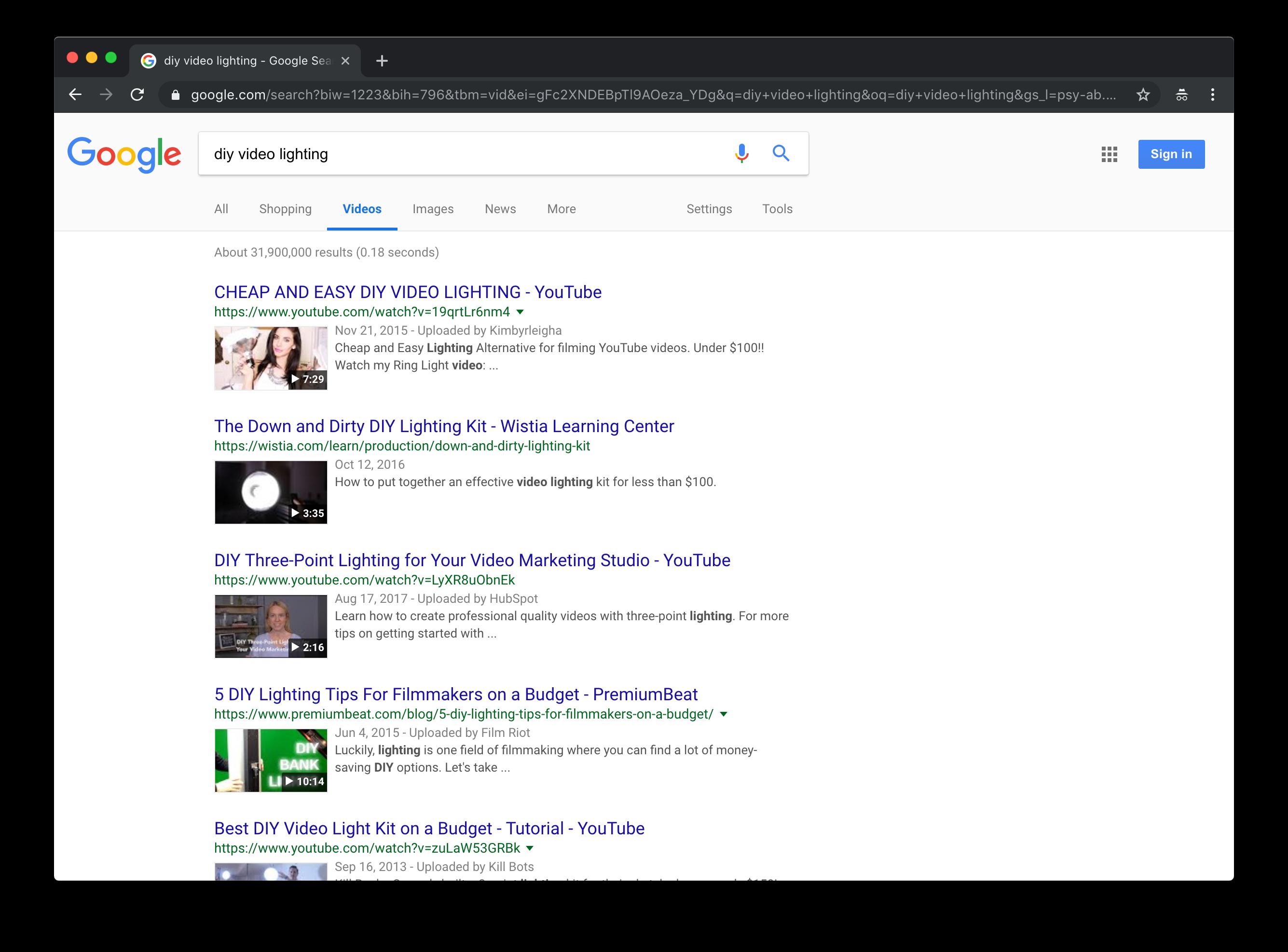 Zoek optimalisatie voor video